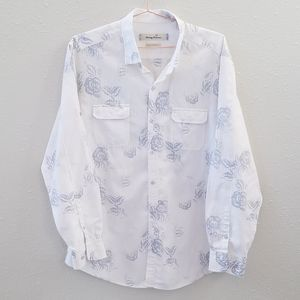 Tommy Bahama Long Sleeve Button Down Shirt Size XL